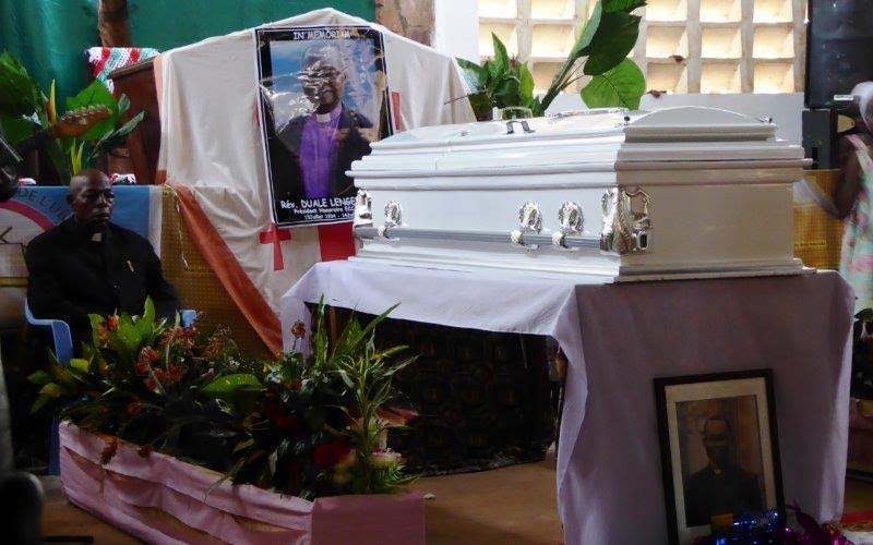 Eight pastors sat 15 minutes each next to Duale's casket throughout Thursday night until the funeral service on Friday morning.