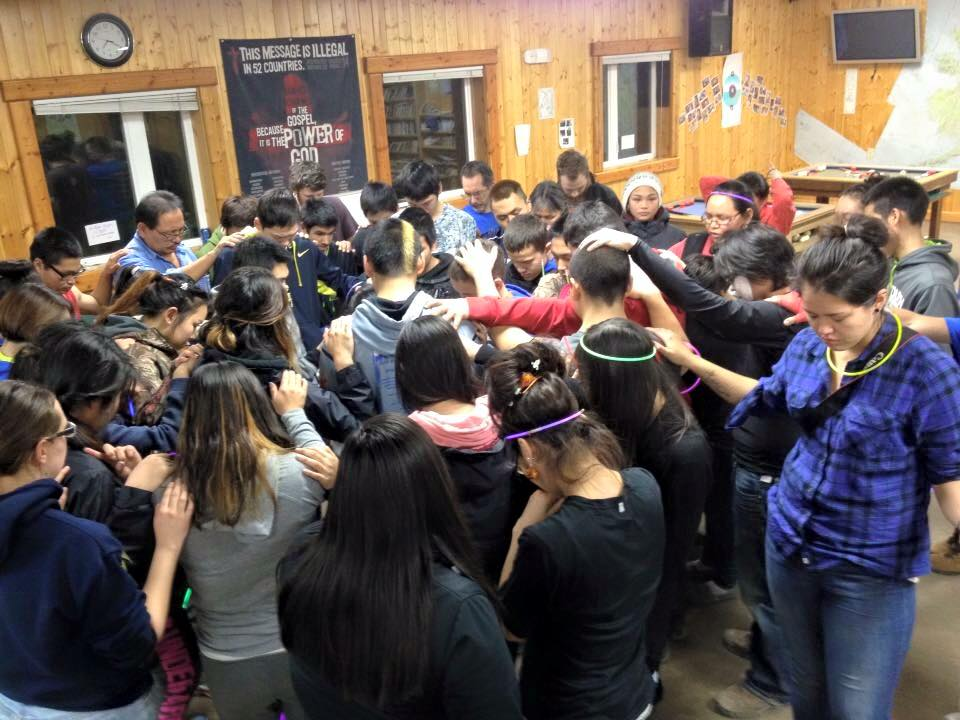 An intergenerational team made up of people from several villages and Anchorage prayed with youth in Hooper Bay following four suicides in the community of 1,200 residents.