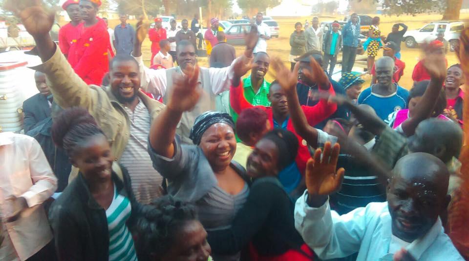 Princess Kasune Zulu celebrates her election victory