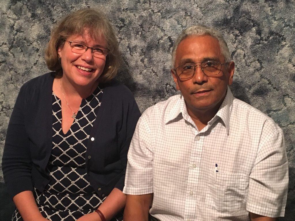 Barbara Swanson and pastor Javier Cardenas
