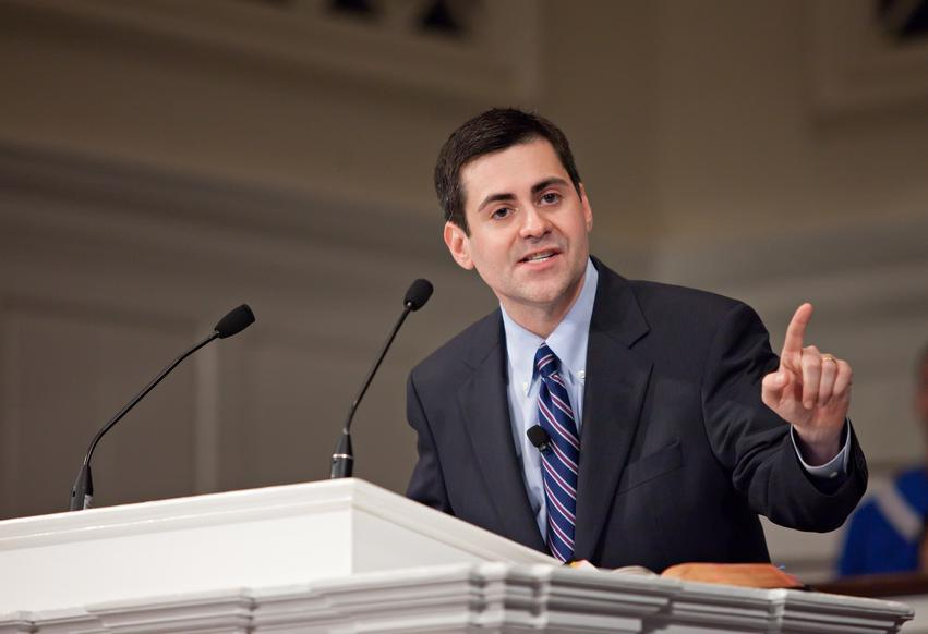 Russell Moore preaching.