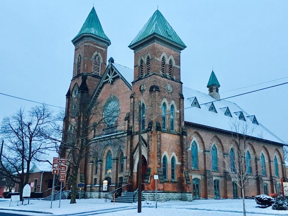 Historic First Presbyterian Church in Seneca Falls, New York