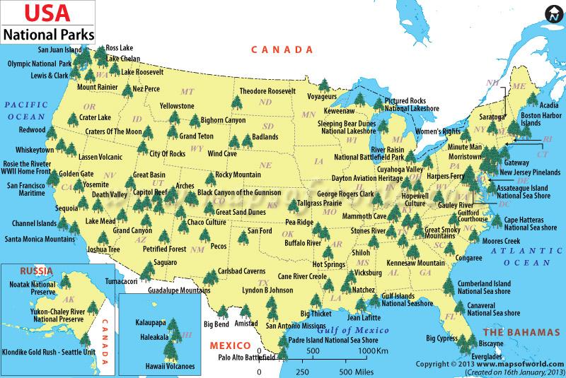 national parks map : Covenant Companion